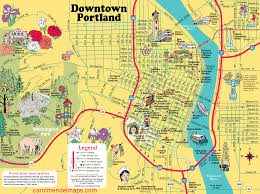 Oregon Map by Map Of Downtown Portland