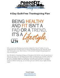 4 day guilt free thanksgiving plan