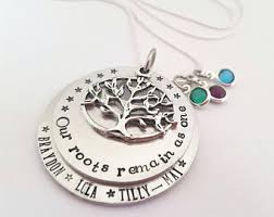 Mothers Necklaces With Children S Names Family Tree Necklace Etsy