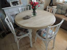 astonishing shabby chic round dining table and chairs 65 for your