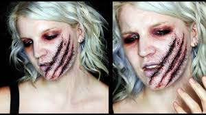 wound halloween makeup poisoned claws sfx infected wound makeup tutorial 31 days of