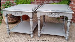now only 100 matching end tables in aspen gray facelift furniture