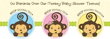 monkey baby shower theme party store baby shower themes monkey baby shower themes 062811