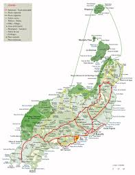 Canary Islands Map The Island Of Lanzarote In The Canary Islands