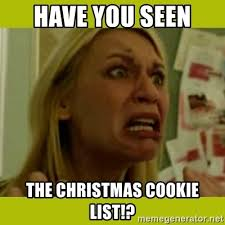 Claire Danes Meme - have you seen the christmas cookie list concerned claire danes