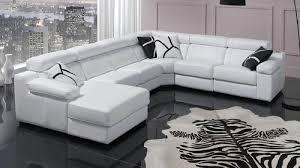 canapé cuir blanc design revêtements de canapé du plus robuste au plus fragile achatdesign