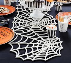 spiderweb table runner pottery barn
