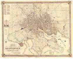 Map Of Baltimore Md Old Maps Of Baltimore
