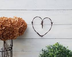 Barbed Wire Home Decor Rustic Barbed Wire Heart Rustic Wedding Decor Western