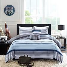 White Twin Xl Comforter Amazon Com Teen Boys Bedding Rugby Stripe Blue Gray White Green