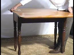 Oak Drop Leaf Table Ohio U0027s Old Wood Market Maple And Oak Drop Leaf Table Bu41 Youtube