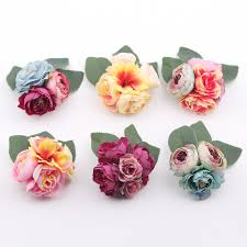 flower corsage hair accessory fabric peony big flower corsage brooch child