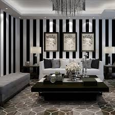 Black And White Striped Wallpaper by Online Get Cheap Wall Papers Home Decor Stripe Black Aliexpress