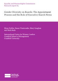 gender diversity gender diversity on boards the appointment proces u2026