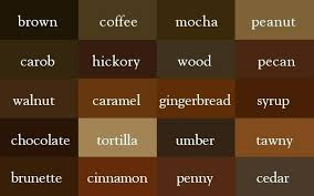 brown paint shade of brown paint color thesaurus correct names of shades of