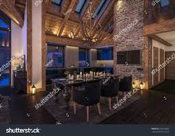 cozy living room 3d rendering cozy living room on stock illustration 503218636