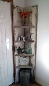 31 Md 00510 Ladder Shelves by Corner Shelf Made Out Of A Door Aimee U0027s Home Remodel Pinterest