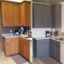 Painting Kitchen Cabinets With Chalk Paint Chalk Paint Kitchen Cabinets Before And After Medium Size Of