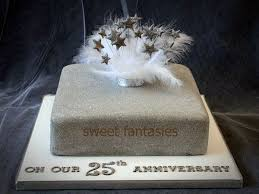 pictures 4 of 11 square 25th anniversary cake ideas photo