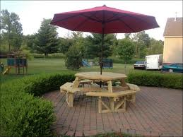 Free Round Wooden Picnic Table Plans by Exteriors Walk In Octagon Picnic Table Plans Free Modern Picnic