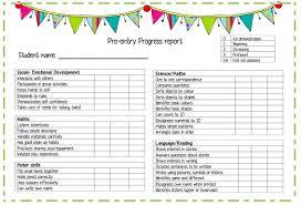 preschool report card template preschool progress report cards childcare pdf