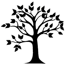 black white clipart tree pencil and in color black white