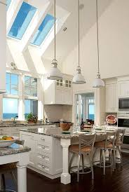 cathedral ceiling kitchen lighting ideas 16 ways to add decor to your vaulted ceilings