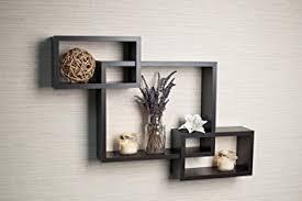Kitchen Wall Shelf Amazon Com Danya B Yu008 Intersecting Boxes Color Wall Shelf