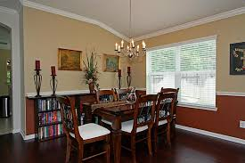 Two Tone Walls With Chair Rail Captivating Dining Room Paint Ideas With Chair Rail With Chair