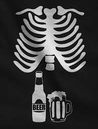 Pregnant Shirts For Halloween by Amazon Com Halloween Skeleton Beer Belly Xray Funny Men U0027s T Shirt