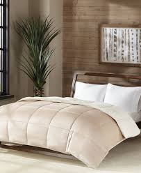 home design alternative comforter premier comfort reversible micro velvet and sherpa