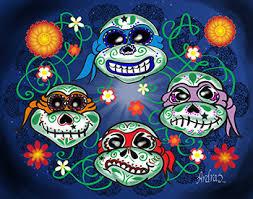 dia de los muertos sugar skulls mutant sugar skull turtles dia de los muertos