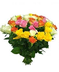 multicolored roses bouquet of multicolored roses 30 40cm