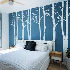 amazon com ussore wall stickers birds wall decals mural bedroom n sunforest 8ft white birch tree vinyl wall decals nursery forest family tree wall stickers