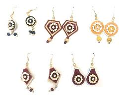 jute earrings earrings made up of jute thread by waran pack of 5 at glowroad