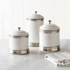 kitchen canisters ceramic williams ceramic canisters set of 3 williams sonoma