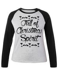t shirts 2xl plus size christmas raglan sleeve t shirt
