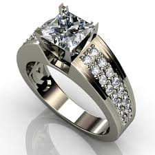 womens diamond rings black titanium engagement rings for women fashion mode