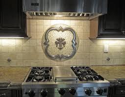 Kitchen Backsplash Stone Kitchen Kitchen Mosaic Tile Backsplash Grapes Stone Medallions