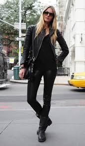 fashion motorcycle boots street style motorcycle boots all black look jpg 400 690 pixels
