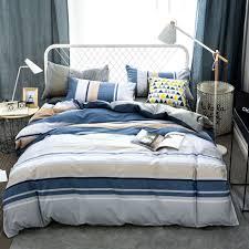 Bedding Sets Blue Online Get Cheap Blue White Comforter Sets Aliexpress Com