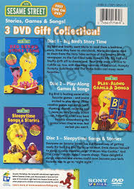 sesame street 3 dvd gift collection stories games and songs