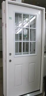 9 Lite Exterior Door New 9 Lite 36 32 Exterior Primed Steel Doors W Jam Green