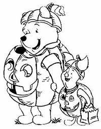 halloween coloring pages winnie pooh friends hallowen