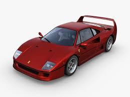 model f40 f40 3d model in royal cars 3dexport