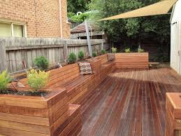 Garden Bench With Planters Making Deck Planter Box Planter Designs Ideas Marine Hills