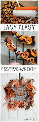 fun festive easy and cheap fall wreath idea debbiedoos