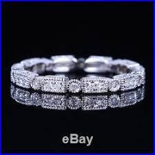 antique diamond wedding band ring art deco bridal vintage estat
