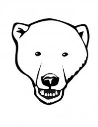 polar bear color page polar bear face coloring pages coloring me