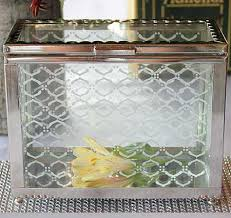 wedding wishes card box decorative glass card box wedding wish box